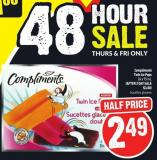 Compliments Twin Ice Pops 24 X 75 mL
