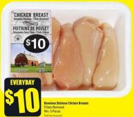 Boneless Skinless Chicken Breasts - Fillets Removed Min. 5 Pieces