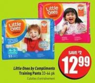 Little Ones By Compliments Training Pants 33-44 Pk