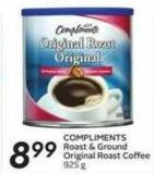 Compliments Roast & Ground Original Roast Coffee