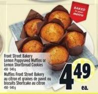 Front Street Bakery Lemon Poppyseed Muffins Or Lemon Shortbread Cookies 450-540 g