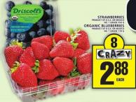 Strawberries Or Organic Blueberries