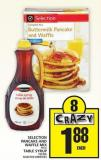 Selection Pancake And Waffle Mix or Table Syrup