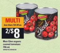 Muir Glen Organic Canned Tomatoes 796 ml