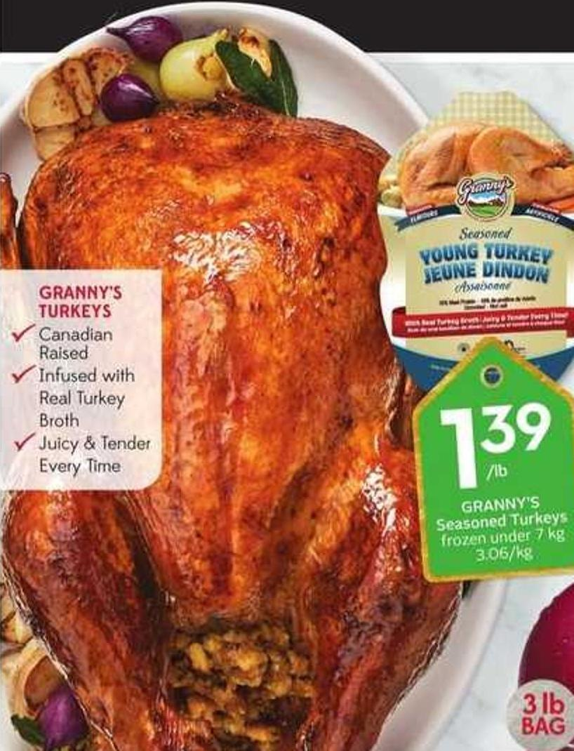 Granny's Seasoned Turkeys Frozen Under 7 Kg 3.06/kg