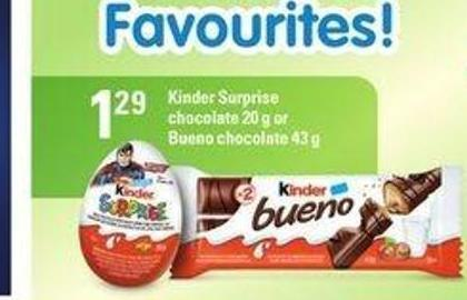 Kinder Surprise Chocolate 20 G Or Bueno Chocolate 43 G