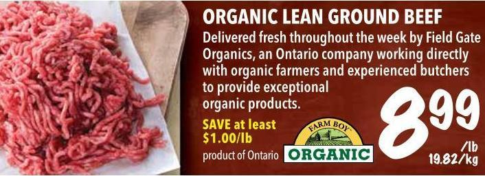 Organic Lean Ground Beef