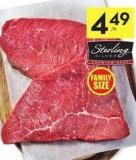 Sterling Silver Inside Round Steaks or Roast Cut From Canada Aaa Grade Beef 9.90/kg