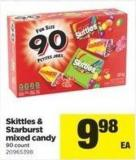 Skittles & Starburst Mixed Candy - 90 Count