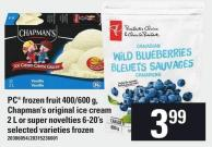 PC Frozen Fruit 400/600 G - Chapman's Original Ice Cream 2 L Or Super Novelties 6-20's