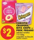 Christie Crispers - Ritz Chips or Peek Freans - 115-350g