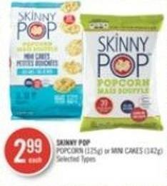 Skinny Pop Popcorn (125g) or Mini Cakes (142g)