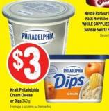 Kraft Philadelphia Cream Cheese or Dips 340 g