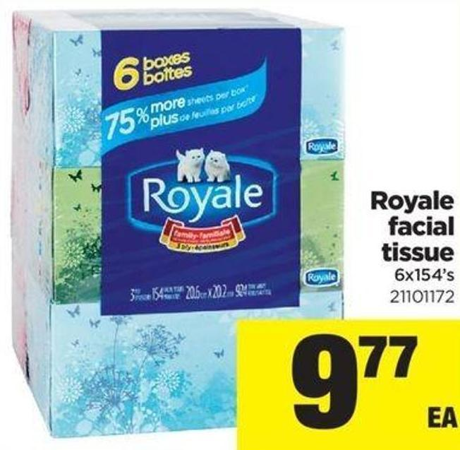 Royale Facial Tissue - 6x154's