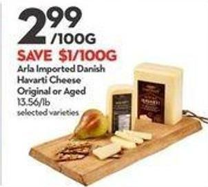 Arla Imported Danish Havarti Cheese Original or Aged