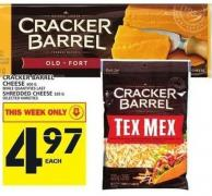Cracker Barrel Cheese Or Shredded Cheese