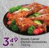 Bloody Caesar Chicken Drumsticks