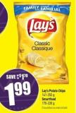 Lay's Potato Chips 141-255 g Smartfood 170-220 g