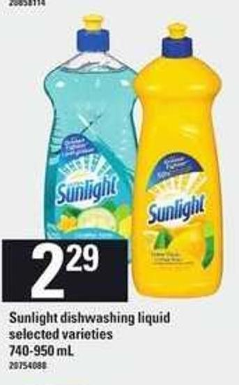 Sunlight Dishwashing Liquid - 740-950 Ml