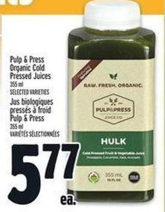 Pulp & Press Organic Cold Pressed Juices
