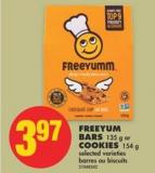 Freeyum Bars - 135 g or Cookies - 154 g