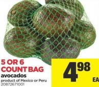 Avocados - 5 Or 6 Count Bag