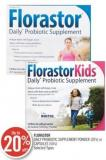Florastor Daily Probiotic Supplement Powder (20's) or Capsules (50's