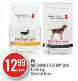 PC Nutrition First Dry Dog Food