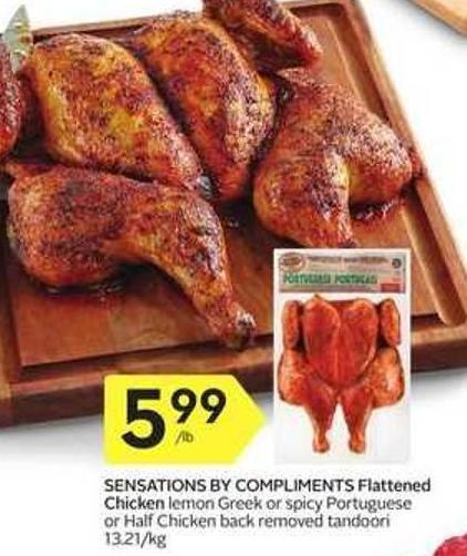 Sensations By Compliments Flattened Chicken