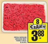 Fresh Medium Ground Beef