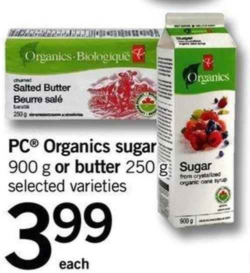 PC Organics Sugar - 900 G Or Butter - 250 G