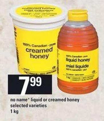 No Name Liquid Or Creamed Honey