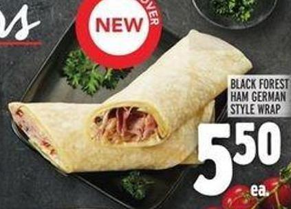 Black Forest Ham German Style Wrap