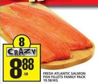 Fresh Atlantic Salmon Fish Fillets Family Pack