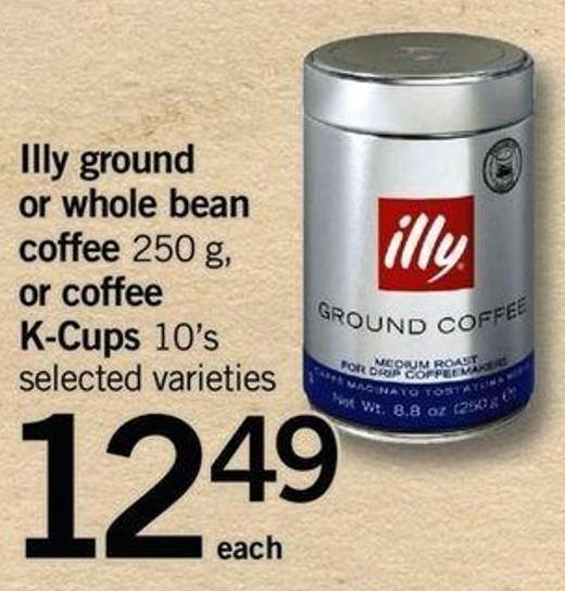 Illy Ground Or Whole Bean Coffee 250 G - Or Coffee K-cups 10's