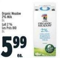 Organic Meadow 2% Milk