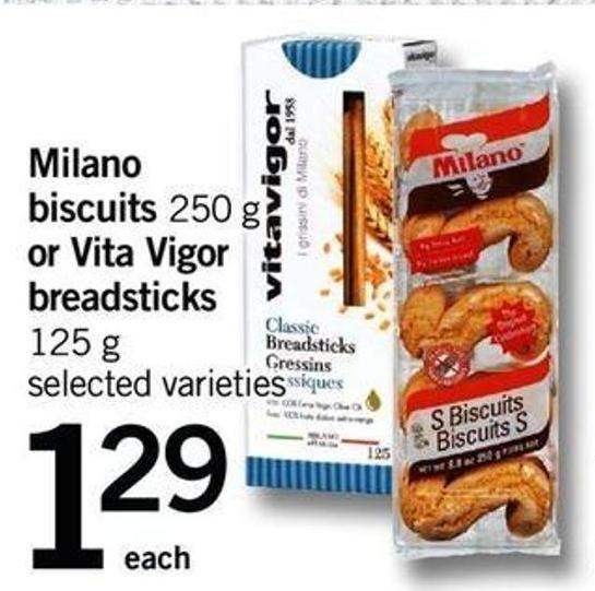 Milano Biscuits - 250 G Or Vita Vigor Breadsticks - 125 G