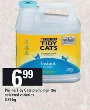 Purina Tidy Cats Clumping Litter - 6.35 Kg