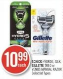 Schick Hydro5 - Silk - Gillette Treo or Venus Manual Razor