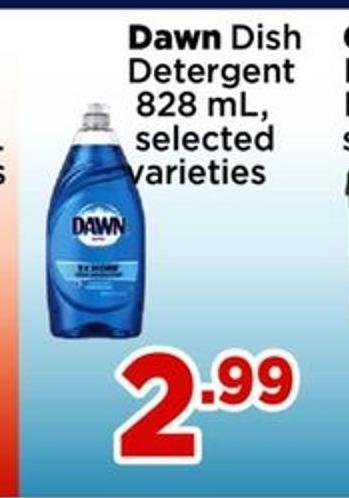Dawn Dish Detergent - 828 Ml