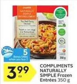 Compliments Naturally Simple Frozen Entrées - 5 Air Miles Bonus Miles