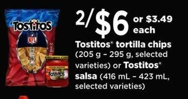 Tostitos Tortilla Chips (205 G – 295 G - Selected Varieties) Or Tostitos Salsa (416 Ml – 423 ml