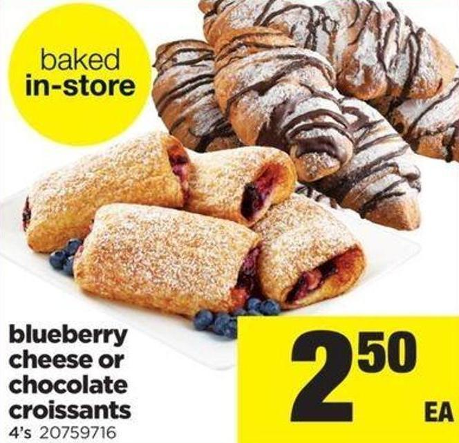 Blueberry Cheese Or Chocolate Croissants - 4's