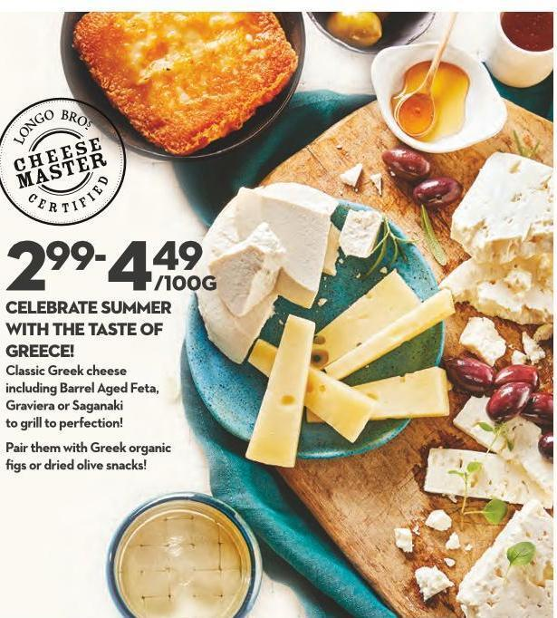 Celebrate Summer With The Taste of Greece! Classic Greek Cheese Including