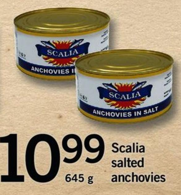 Scalia Salted Anchovies - 645 g