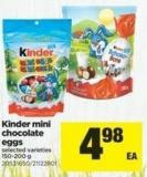 Kinder Mini Chocolate Eggs - 150-200 g