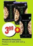 Wonderful Pistachios Product of USA 200-225 g