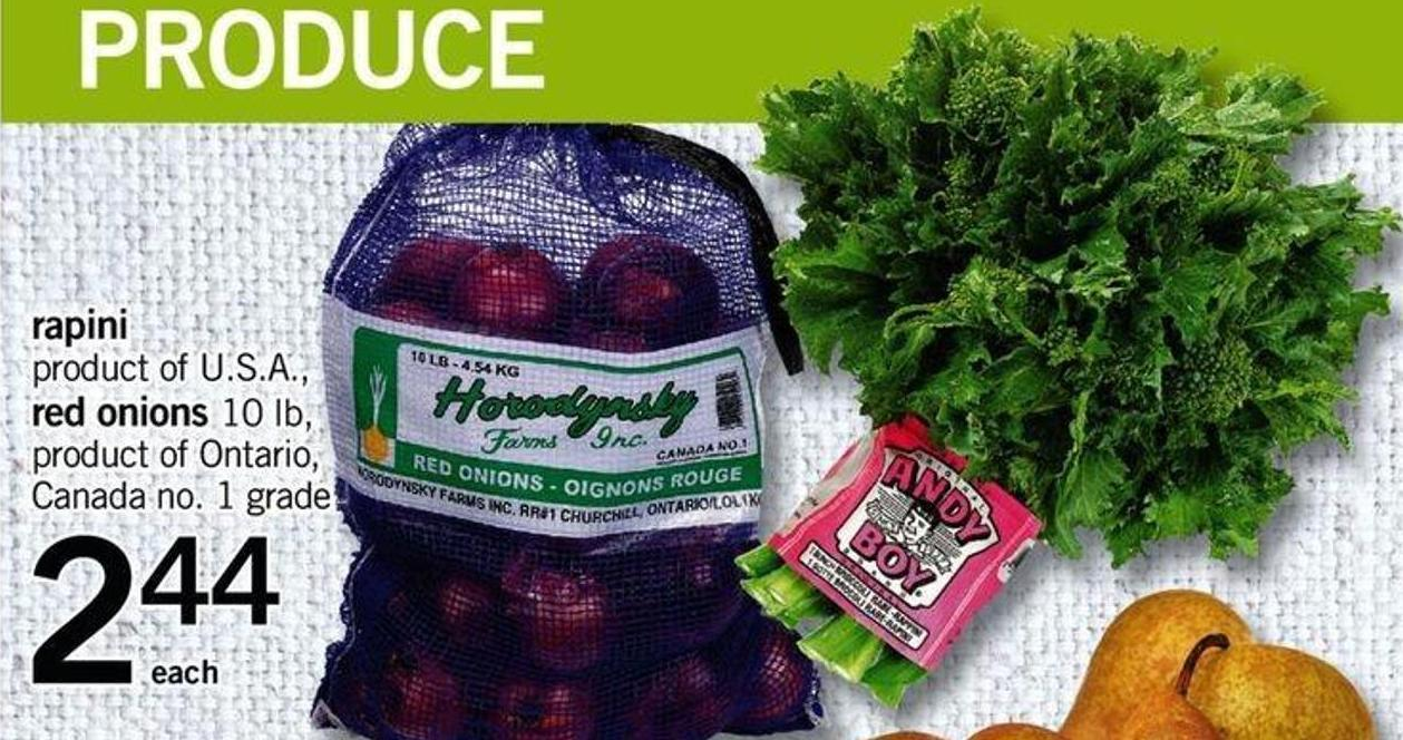 Rapini Or Red Onions - 10 Lb