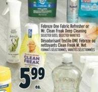 Febreze One Fabric Refresher Or Mr. Clean Freak Deep Cleaning
