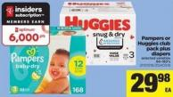 Pampers Or Huggies Club Pack Plus Diapers - 84 - 180's